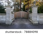 Gate And Surrounding Wall Of A...