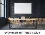 side veiw of a black brick ceo... | Shutterstock . vector #788841226