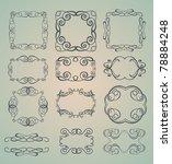 set of ornamental frames | Shutterstock .eps vector #78884248
