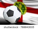 soccer black and white ball... | Shutterstock . vector #788843035