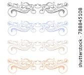 colored ornaments. classic...   Shutterstock . vector #788845108