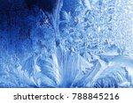 frost pattern on a windowpane...   Shutterstock . vector #788845216