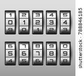 metallic combination lock with... | Shutterstock .eps vector #788846185