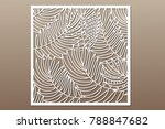 decorative card for cutting.... | Shutterstock .eps vector #788847682