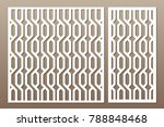 set decorative card for cutting.... | Shutterstock .eps vector #788848468