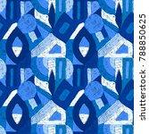 geometric pop art pattern.... | Shutterstock . vector #788850625