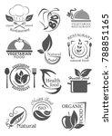 organic food and vegetarian... | Shutterstock .eps vector #788851165