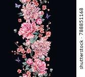 watercolor nature seamless... | Shutterstock . vector #788851168
