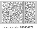 set template for cutting.... | Shutterstock .eps vector #788854972