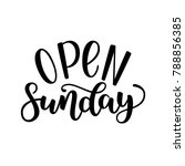 Open Sunday Handlettering...