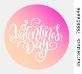 happy valentines day vector... | Shutterstock .eps vector #788856646