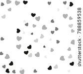 hearts confetti  bright... | Shutterstock .eps vector #788859538