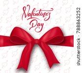 valentines day. valentines day... | Shutterstock .eps vector #788863252