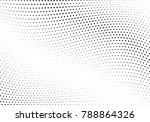 abstract halftone wave dotted... | Shutterstock .eps vector #788864326