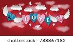 love invitation card valentine...   Shutterstock .eps vector #788867182