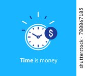 time is money concept  clock... | Shutterstock .eps vector #788867185