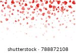 confetti hearts for valentine... | Shutterstock .eps vector #788872108