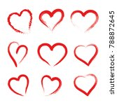 hand drawn hearts. design... | Shutterstock .eps vector #788872645