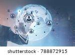 hand of a businessman wearing a ... | Shutterstock . vector #788872915