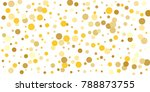 gold background. gold circles... | Shutterstock .eps vector #788873755