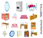 furniture and interior cartoon... | Shutterstock .eps vector #788877316