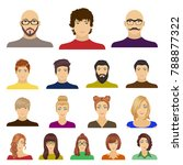 avatar and face cartoon icons... | Shutterstock .eps vector #788877322
