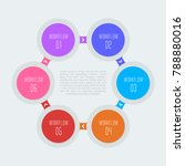 6 step infographic  six choices ... | Shutterstock .eps vector #788880016
