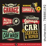 car labels  signs  emblems ... | Shutterstock .eps vector #788881192