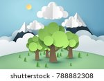 relation of forest and cloud ... | Shutterstock .eps vector #788882308