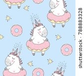 vector seamless pattern with...   Shutterstock .eps vector #788883328