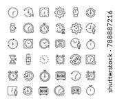 modern outline style time icons ... | Shutterstock .eps vector #788887216
