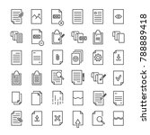 modern outline style document... | Shutterstock .eps vector #788889418