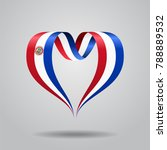 paraguayan flag heart shaped... | Shutterstock . vector #788889532