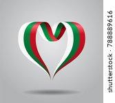bulgarian flag heart shaped... | Shutterstock . vector #788889616
