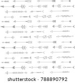 black and white arrows | Shutterstock . vector #788890792