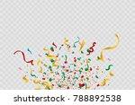 colorful bright confetti... | Shutterstock .eps vector #788892538