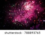 violet and purple fireworks in... | Shutterstock . vector #788893765
