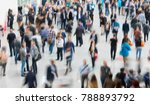 blurred people in a modern hall | Shutterstock . vector #788893792