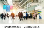 blurred people in a modern hall | Shutterstock . vector #788893816
