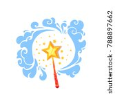 fairy magic wand or stick with... | Shutterstock .eps vector #788897662