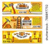 home renovation  carpentry...   Shutterstock .eps vector #788897752