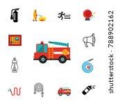 firefighting icon set | Shutterstock .eps vector #788902162