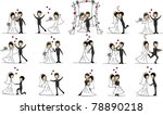 large set of wedding pictures | Shutterstock .eps vector #78890218