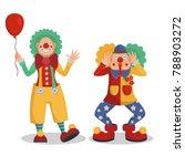 Funny Cartoon Circus Clowns...
