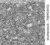 cartoon cute doodles cinema... | Shutterstock .eps vector #788903452