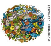 australia doodles elements and... | Shutterstock .eps vector #788903695