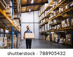 male warehouse worker with a... | Shutterstock . vector #788905432