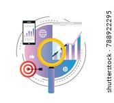business graph statistics...   Shutterstock .eps vector #788922295