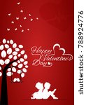 valentine's day vector greating ... | Shutterstock .eps vector #788924776
