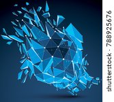 perspective technology... | Shutterstock .eps vector #788925676
